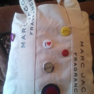 Marc Jacobs Canvas Tote with Buttons
